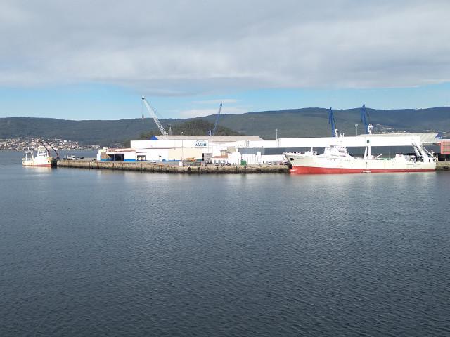 Intensifícase a campaña de descargas de peixe conxelado no Porto de Marín